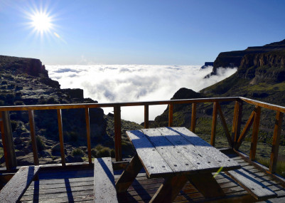 The most elevated bar in Africa is truly over the mists