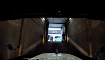 VIDEO : Truck driver's dash cam video of his 'cozy underground dock' will make you sweat